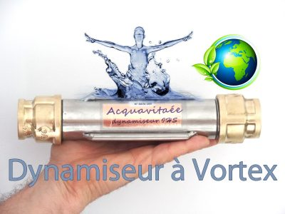 dynamiseur bio à vortex se branche à l'arrivée de l'eau