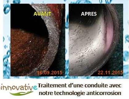 acquavitaée purifieur d'eau avant-après-traitement-anticorrosion-