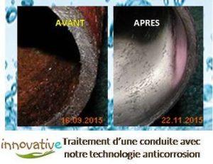 Résultats anti-corrosion à vortex