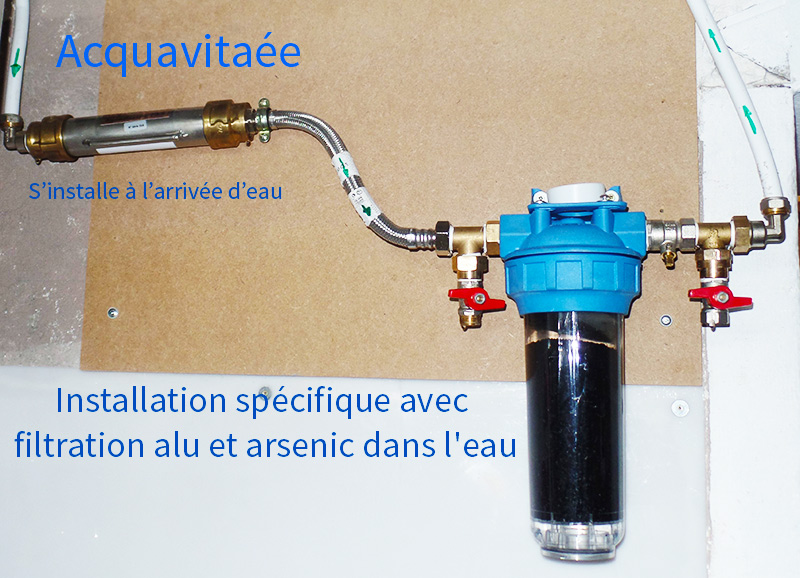 anticalcaire installation à l'arrivée de l'eau