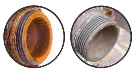 corrosion tuyau eau avant après acquavitaée