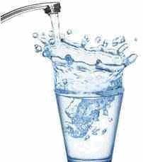 eau dynamisée sur évier
